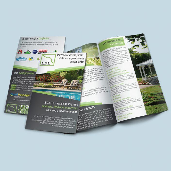 Création brochure commerciale EDL Paysage