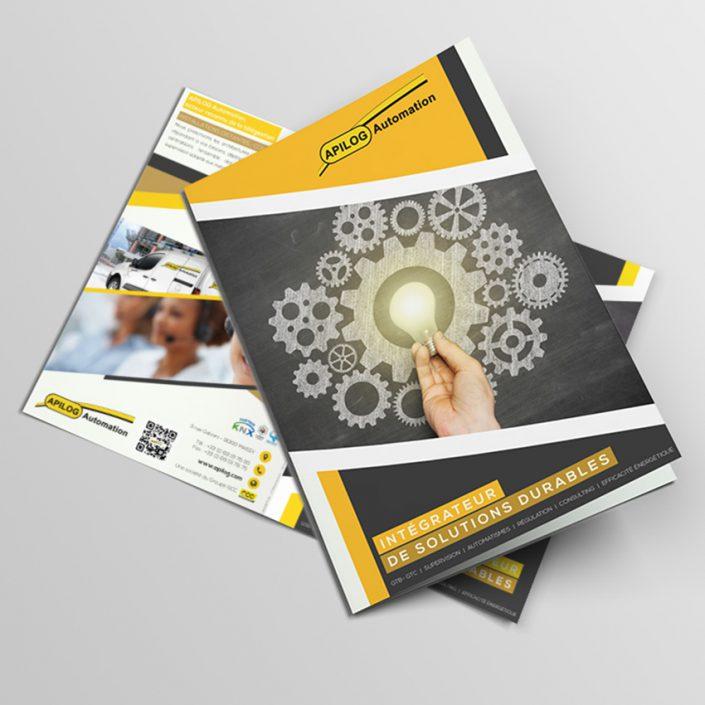 Création brochure commerciale Apilog Automation